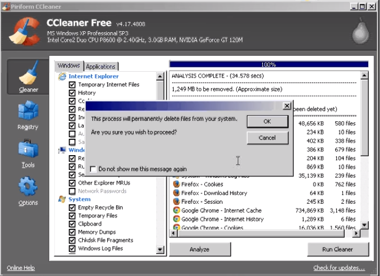 How to run and use ccleaner10
