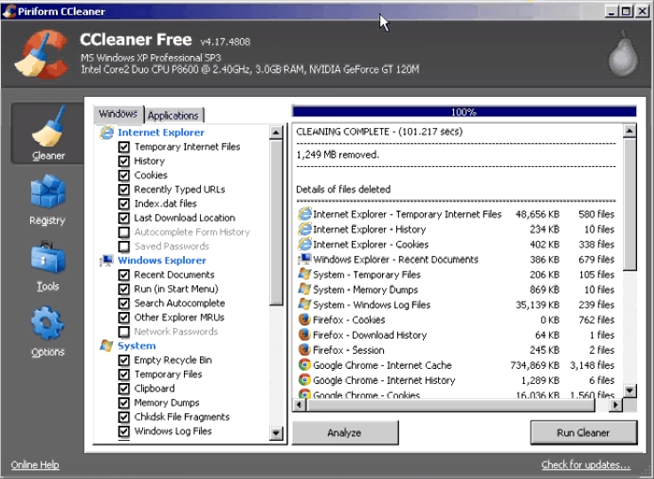 How to run and use ccleaner12