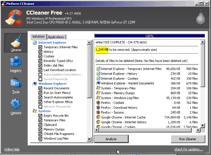 How to run and use ccleaner9