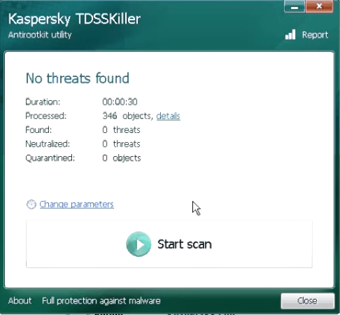 How to run and use tdsskiller4
